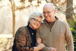 Elderly-Couple-Embraces-Walk-Christian-Stock-Photo